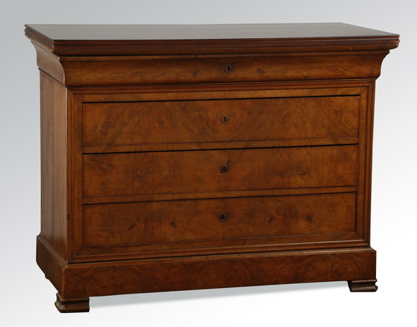 19th c. Louis Phillipe style walnut commode