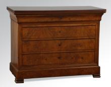 19th c. Louis Phillipe style walnut commode