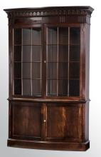 Hickory Chair demi-lune vitrine or bookcase, 94