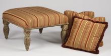 (4) Accent pieces -  ottoman & pillows
