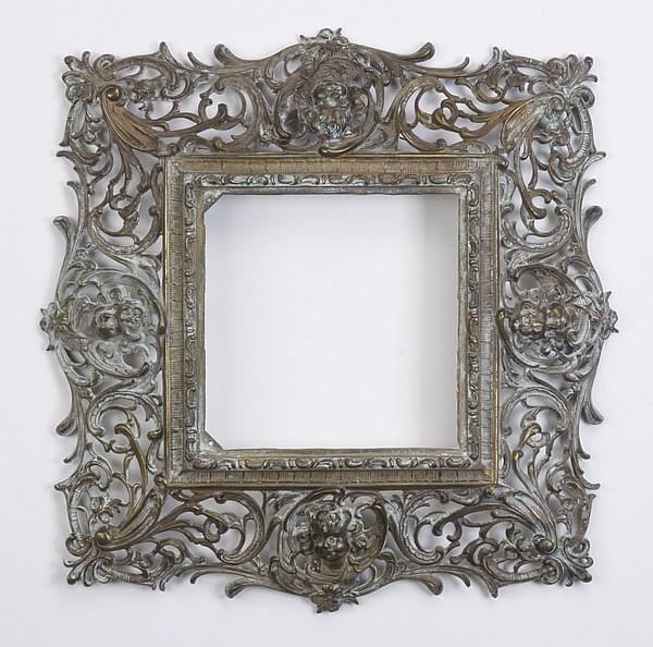 19th c. bronze frame