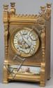 19th c. Neoclassical-style dore' bronze clock