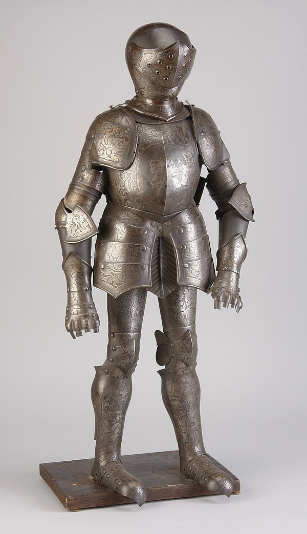 19th c. Continental miniature suit of armor