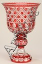 20th c. Bohemian cut crystal compote, 17
