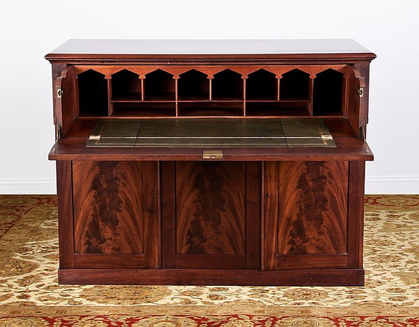 Late 19th c. English mahogany butler's desk