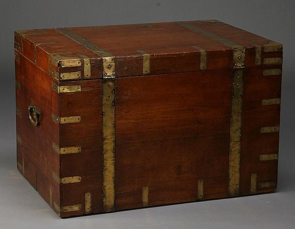 19th c. British campaign trunk