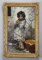 19th c. Italian oil on canvas, signed Franta