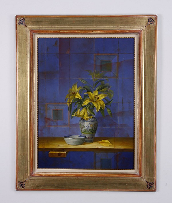 Leon Olmo signed oil on board