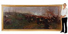 Monumental O/c battle scene, signed Edouard Detaille