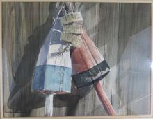 Foster H Nystrom (Cape Cod) Watercolor Painting Buoys