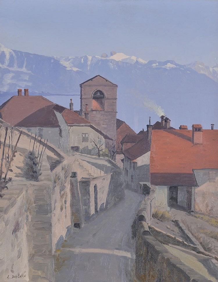 Albert Duplain (1890-1978)    Village de L