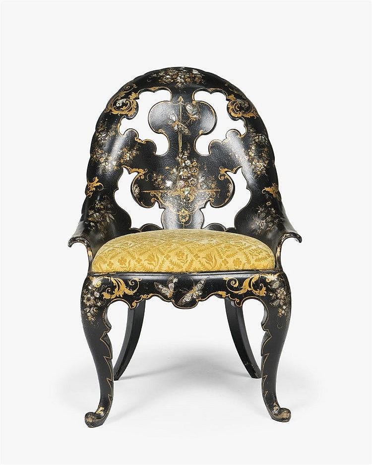 Paire de chaises et fauteuil gondole d 39 poque napol on iii for Chaise napoleon 3