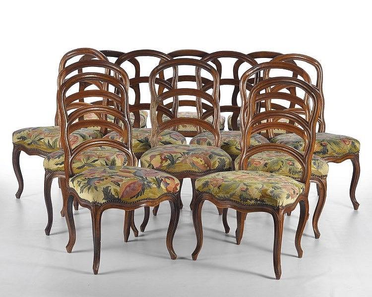 suite de 12 chaises barreaux berne xviiie s