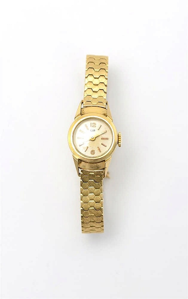 Lot 216 Lip, montre bracelet ronde mécanique ~ Montre Bracelet Bois