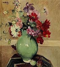 Emile Bressler (1886-1966)Bouquet de fleurs, huile sur toile, signée et datée 32, 52x46 cm