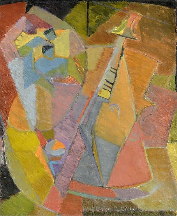 Doune Césari-Tissot (1943)  Vanité  huile sur toile signée 54x66 cm