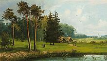 A la manière d'Alexeï Kondratievitch Savrassov (1830-1897)  Paysage ani