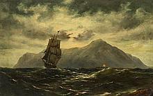 Nikolai Kornilievich Bodarewsky (1850-1921)  Le signal, huile sur toile