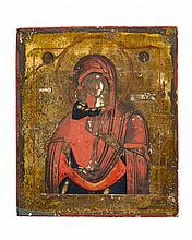 Mère de Dieu de Feodor  Icône russe sur panneau, 31x26,5 cm
