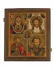 La Vierge en orante, la Sainte Face, Saint-Georges et Saint-Nicolas  Ic