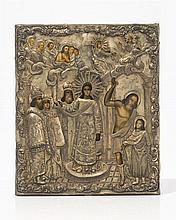 Protection de la Mère de Dieu (Покрова Богородицы),  Icône sur panneau,