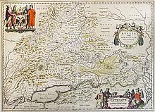 Deux cartes de Russie par Isaac Massa et publiées par Johan et Cornelium Bl