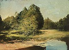 Alexander Ivanovich Lazhechnikov (1870-1944)  Mare ensoleillée, huile s