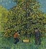 Albert Schmidt (1883-1970)  La récolte, huile sur toile signée, cachet, Albert (1883) Schmidt, CHF2,400