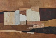 Charles Monnier (1925-1993) Sans titre, huile sur toile, signée, 37x54 cm