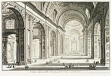 Jean-Baptiste Piranèse (1720-1788)  Veduta interna della Basilica di S.