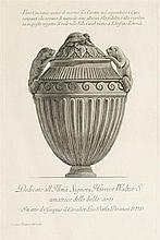 Giovanni Battista Piranesi (1720-1778)  Vases antiques, paire de gravur