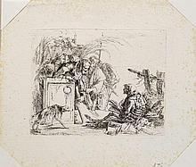 Giovanni Battista Tiepolo (1696-1770)  La mort donnant audience, eau-fo