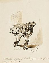 Paul Gavarni (1804-1866)  Machine à pleurer la Bretagne-de la force d'u