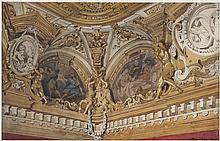 Dans le goût d'Eugène Louis Lamy (1800-1890)  Plafonds du palais Pitti