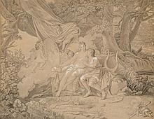 Ecole néoclassique entourage de Jacques-Louis David (1748-1825)  Scène