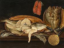 Entourage d'Alexander Adriaenssen (1587–1661)  Nature morte aux poisson