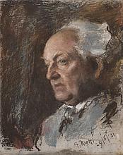 Arturo Rietti (1863-1943)  Portrait d'homme, pastel sur carton, signé e