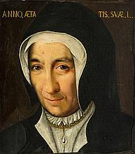 Ecole française du XVIe s  Portrait de Jeanne de Savoie, huile sur toil