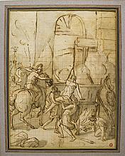 D'après Charles Le Brun (1619-1690)  Le Martyre de Saint-Jean l'évangél