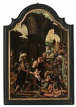 D'après Pieter Coecke Van Aelst (1502-1550)  L'adoration des mages, hui