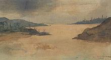 Hippolyte Dominique Berteaux (1843-1926)  Constantinople au crépuscule,