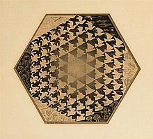 Maurits Cornelis Escher (1898-1972)  Verbum, lithographie, signée et nu
