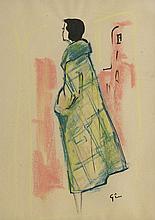 René Gruau (1909-2004)  Femmes élégantes, suite de trois dessins, encre