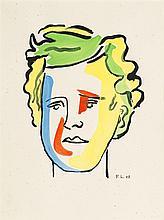 Attribuable à Fernand Léger (1881-1955)  Portrait d'Arthur Rimbaud, enc