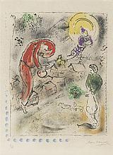 Marc Chagall (1887-1985)  Les toits, lithographie signée, numérotée 15/