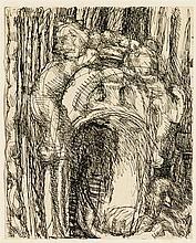 Louis Soutter (1871-1942)  Pont des Soupirs, encre de Chine sur papier
