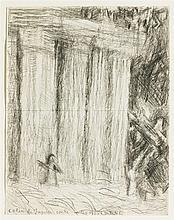 Louis Soutter (1871-1942)  Colère de Jupiter contre Démosthène, cray