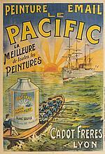 Affiche publicitaire française  Le Pacific, lithographie originale, imp