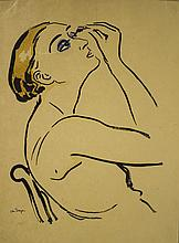 D'après Van Dongen (1877-1968)  Rimmel (femme se maquillant), lithograp