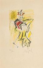 Gen Paul (1895-1975)  Accordéoniste, lithographie signée et numérotée 2